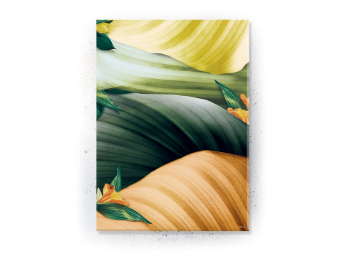 Plakat / Canvas / Akustik: Colorful Leaves (Yellow spring)