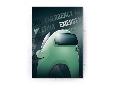 Plakat / Canvas / Akustik: Emergency Meeting / Among Us (Gamer)