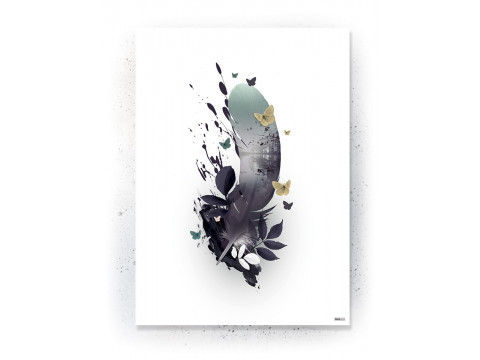 Plakat / canvas / akustik: Feather 2 (Fall)