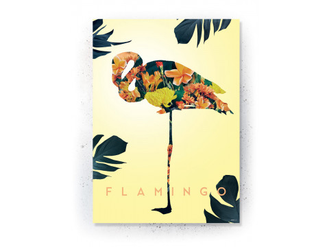 Plakat / Canvas / Akustik: Flamingo (Yellow spring)