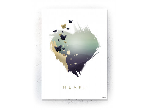 Plakat / canvas / akustik: Heart (Fall)
