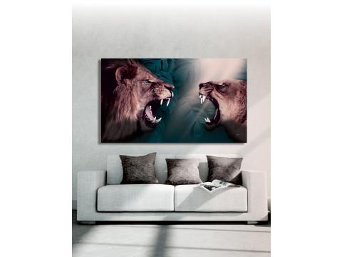 Plakat / Canvas / Akustik: Løver (Storformat / Animals / Panorama)