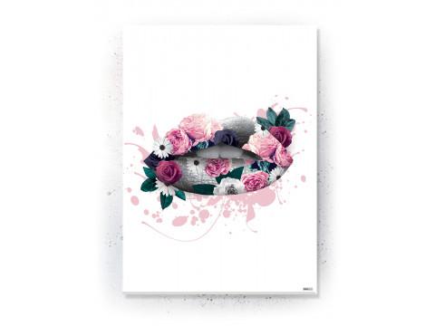 Plakat / Canvas / Akustik: KISS (Floral)