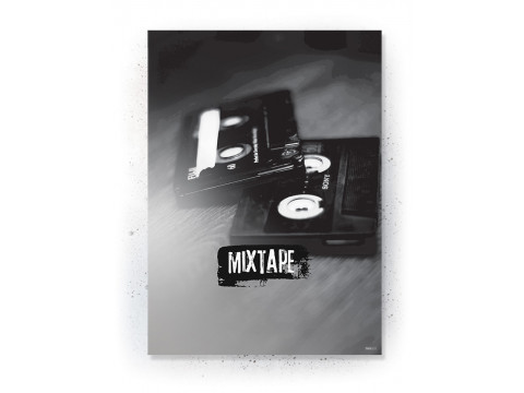 Plakat / Canvas / Akustik: Mixtape (Off-White)