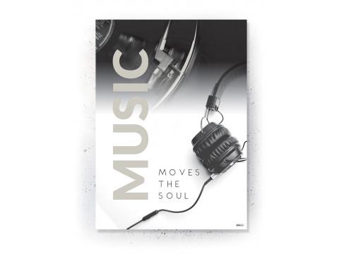 Plakat / Canvas / Akustik: Music Moves the Soul (Off-White)