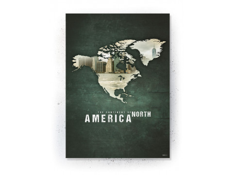 Poster / canvas / acoustic: North America (Continents of the World)