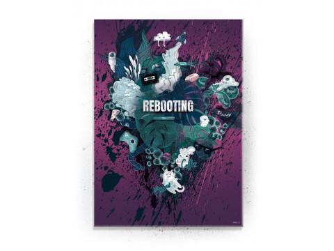 Plakat / Canvas / Akustik: Rebooting / Pink (Gamer plakat)