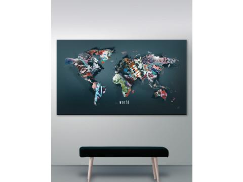 Verdenskort plakat/canvas: The world (Statements)