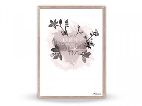 Plakat: Små hjerter kan også føle store ting