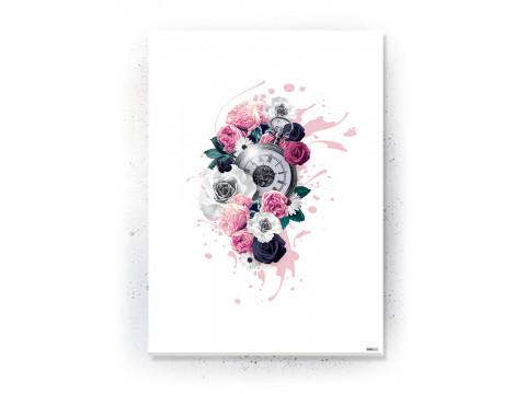 Plakat / Canvas / Akustik: Timepiece (Floral)