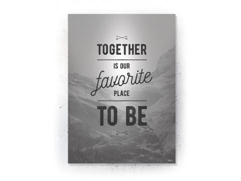 Plakat / Canvas / Akustik: Together (Off-White)