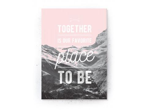 Plakat / Canvas / Akustik: Together (Flush Pink)