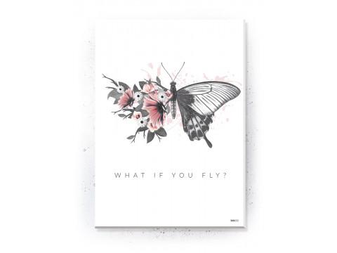 Plakat / Canvas / Akustik: What if you fly? (Flush Pink)