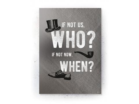 Plakat / Canvas / Akustik: Who, when (Off-White)
