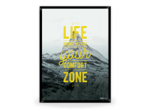 Plakat: Life begins (Yellow Nature)