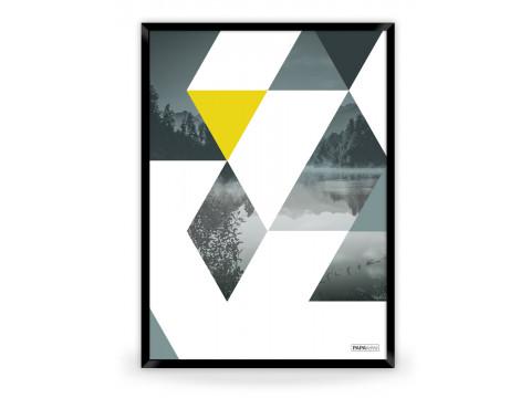 Plakat: Triangles (Yellow Nature)