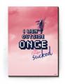 Plakat / Canvas / Akustik: I wen't outside once - the grafics sucked! Pink (Gamer plakat)