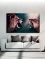 Plakat / Canvas / Akustik: Lions (Animals / Panorama)