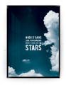 Plakat / Canvas / Akustik: Look for the stars (Indigo)