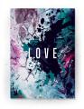 Plakat / canvas / akustik: LOVE (Colorize / Love)
