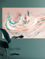 Plakat / Canvas / Akustik: Be your own kind of Beautiful (Pastel / Gold)  Panorama (Empowerment)