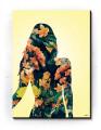 Plakat / Canvas / Akustik: Woman Silouette (Yellow spring)