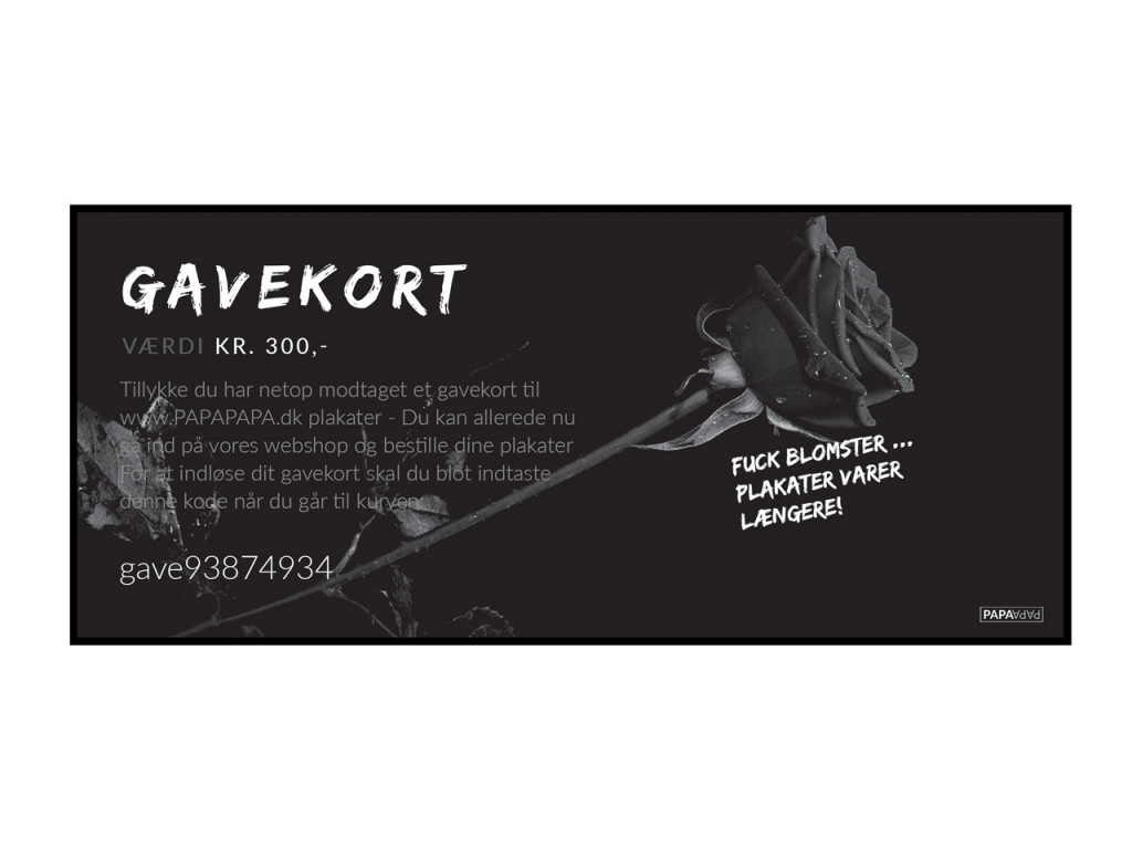 Gift certificate for PAPAPAPA.eu