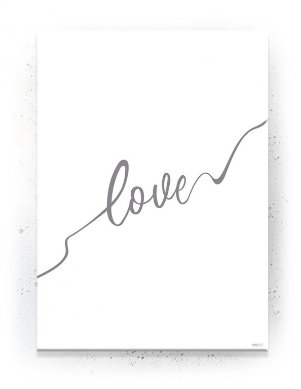 Poster, Canvas, Acoustics: Love - Hvid / Stringart (Withered)