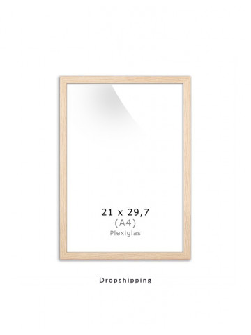Dropshipping / Ramme: Eg (look) 21x30cm