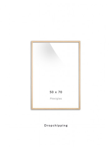Dropshipping / Ramme: Eg (Look) 50x70cm