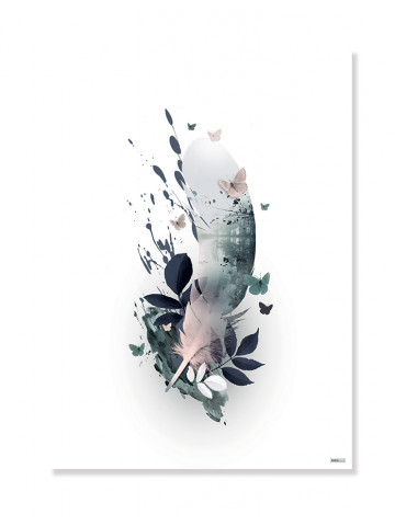 Plakat: Påfugl/Peacock (Green/Grøn)