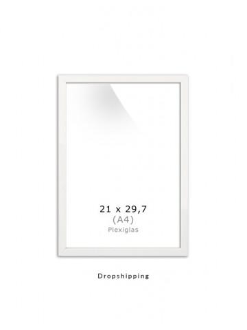 Dropshipping / Ramme: Hvid 21x30cm