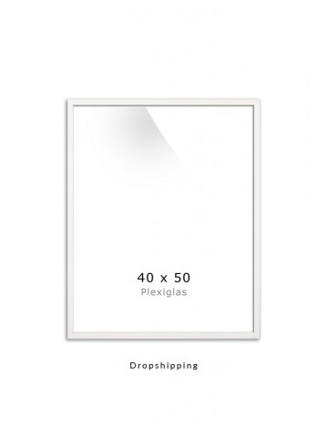 Dropshipping / Ramme: Hvid 40x50cm