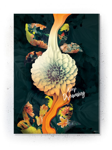 Poster / Canvas / Acoustic: Liquid Blossom (Yellow spring)