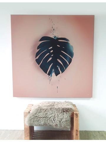 Spotpris / Canvas: Monstera Leaf (Earth)