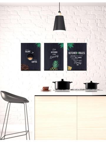 Spotpris / Canvas: 3 x Kitchen Artworks (Canvas)