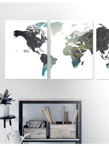 Poster / Canvas / Acoustic: World - We are one (Nature)
