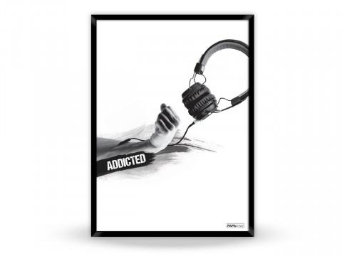 Plakat: Addicted to music