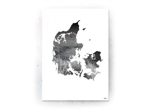 Plakat: Træ i silhuet