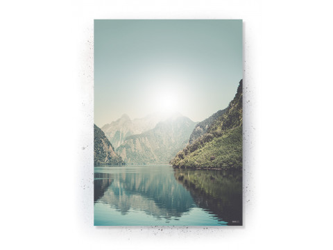 Plakat: Trekanter og natur