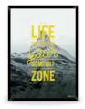 Plakat: Life begins (Yellow Nature)