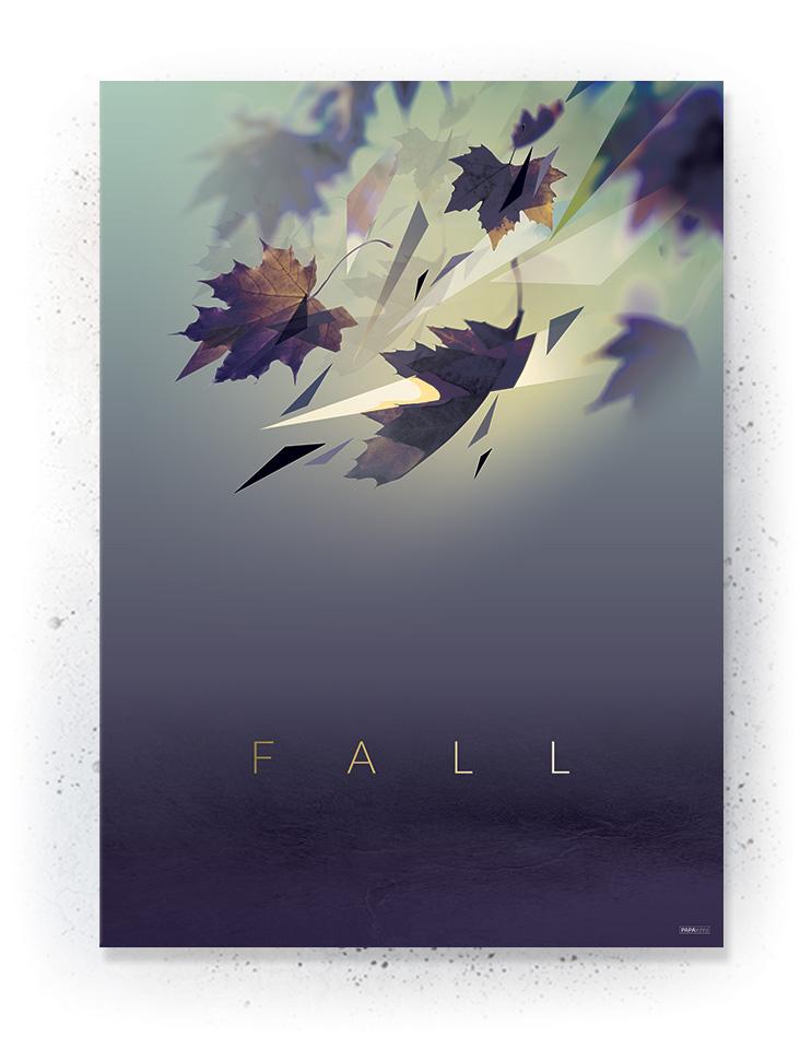 Plakat / canvas / akustik: Faldende blade (Fall)