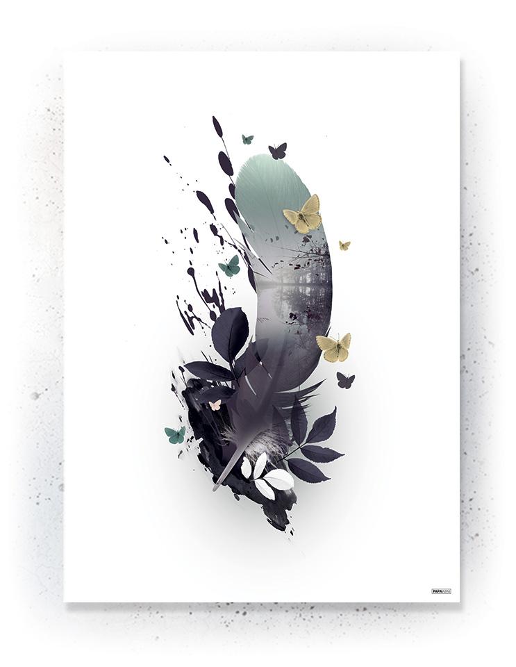Plakat / canvas / akustik: Fjer 2 (Fall)