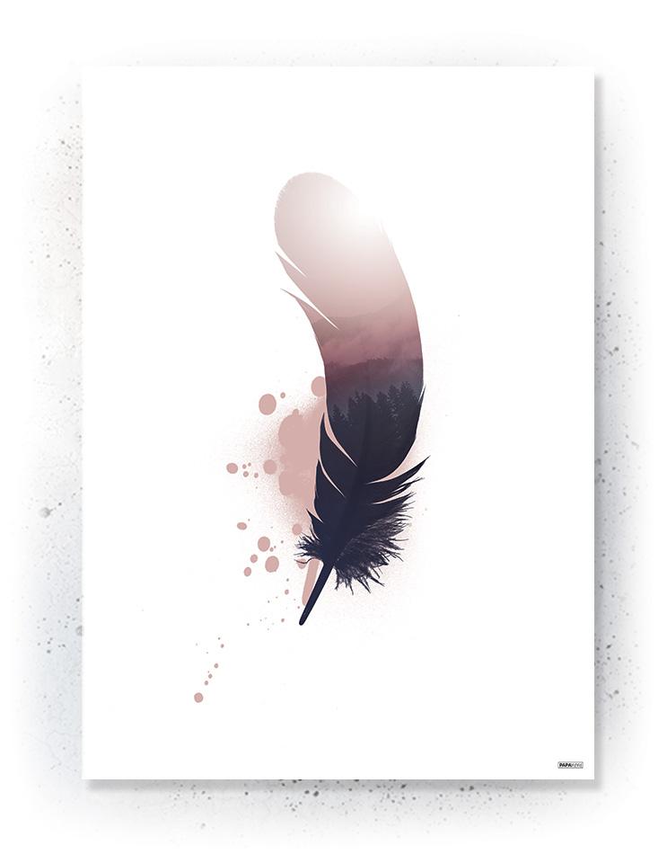 Plakat / canvas / akustik: Fjer (MIDSOMMER)
