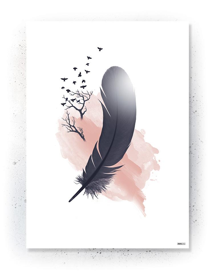 Plakat / canvas / akustik: Fjer og fugle (MIDSOMMER)