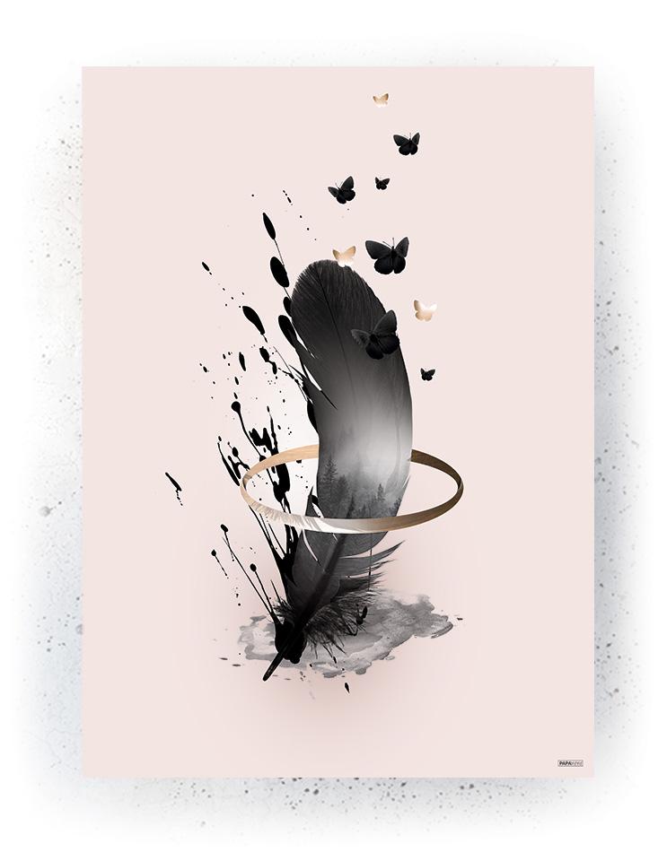 Plakat / canvas / akustik: Feather (Obsession)