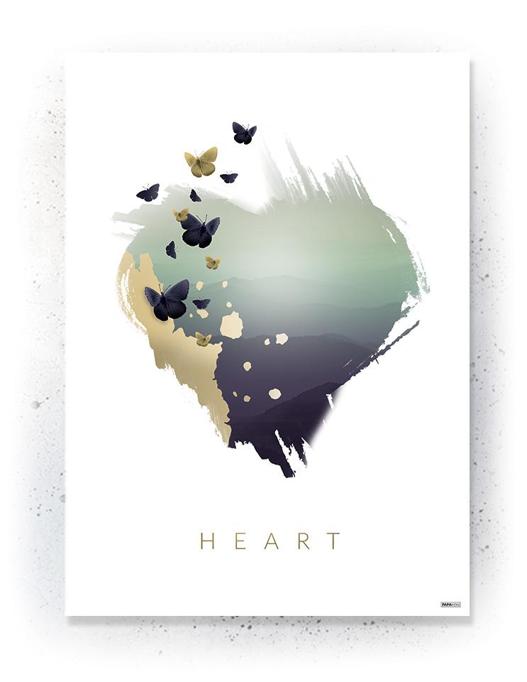 Plakat / canvas / akustik: Hjerte (Fall)