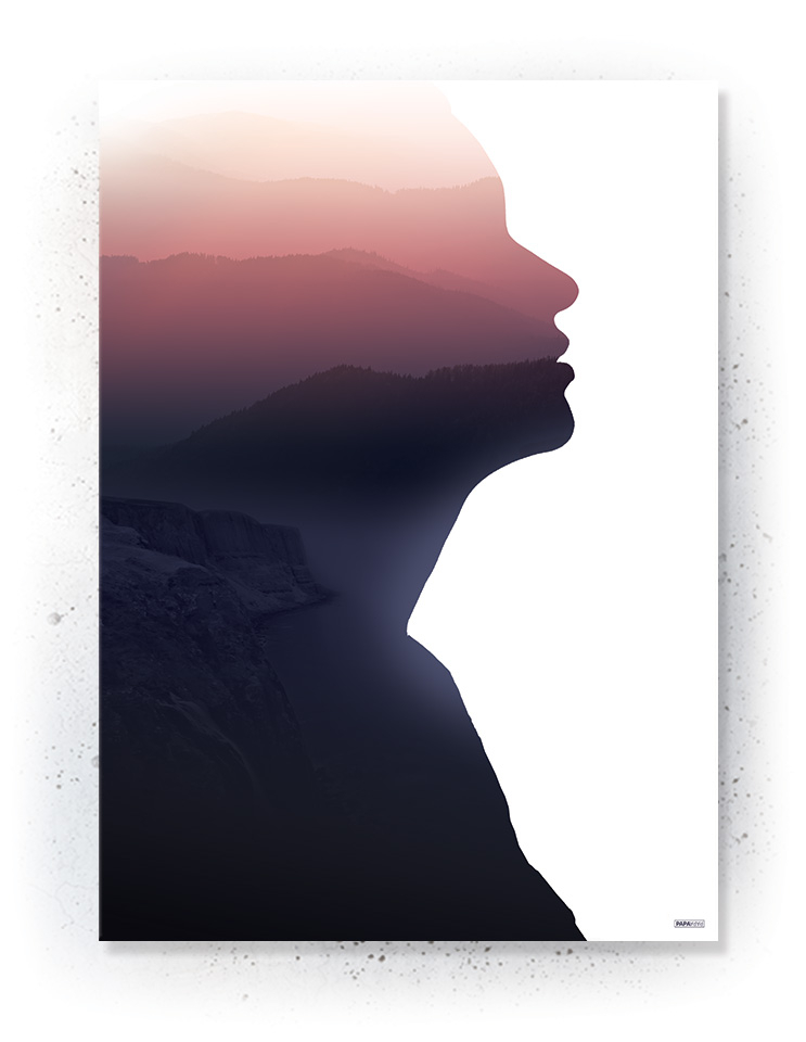 Plakat / canvas / akustik: Menneske silhouette (MIDSOMMER)