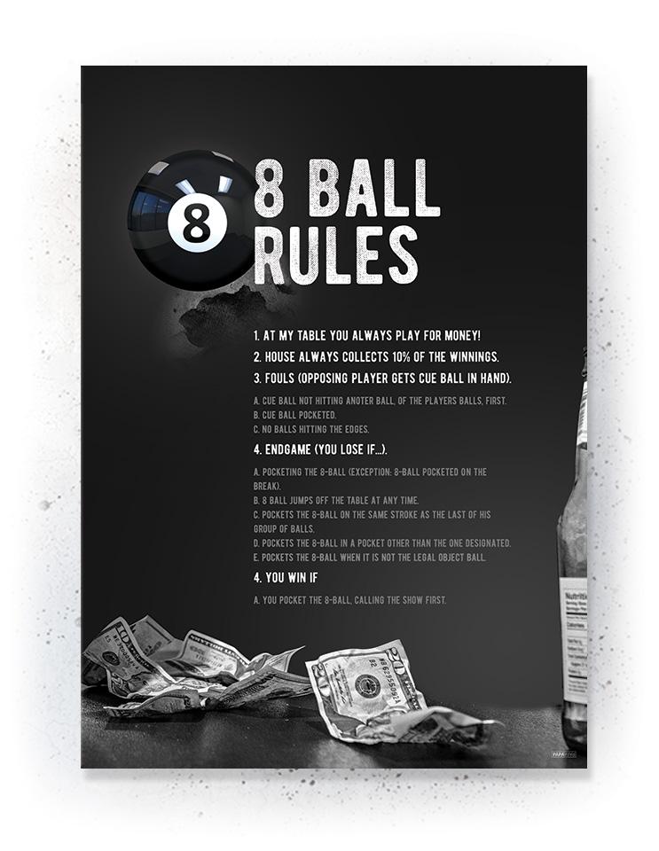 Plakat / Canvas / Akustik: Pool Rules (Quote Me)