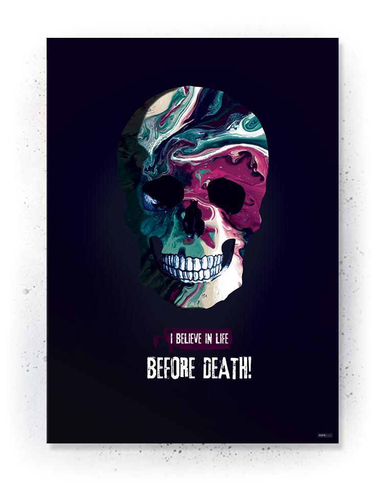 Plakat / canvas / akustik: Skull (Colorize / Love)